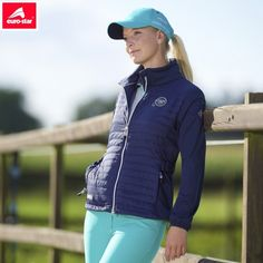 Euro-Star Agatha Jacket - Navy, £74. With softshell sleeves and lightweight padding