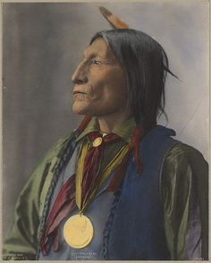 Chief Wolf Robe - Cheyenne - 1898. (Colorized) photo by F.A. Rinehart. Source - Boston Public Library.