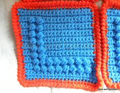 Afghan Square Alphabet Letter series, free crochet patterns by Becky Ferris.