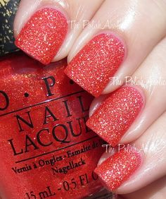 The PolishAholic: OPI Bond Girls Collection Swatches - Jinx Christmas Nail Polish, Holiday Nails, Nails Now, Opi Nails, Opi Nail Polish Colors, Nail Colors, Nail Polishes, Glam And Glitter, Glitter Nails
