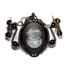 Steampunk Goth Jewelry  Bracelet  Deep Sea by CatherinetteRings, $60.00