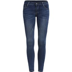 Scratch Denim Slim Pant (€16) ❤ liked on Polyvore featuring pants, jeans, bottoms, 11. pants., jeans/pants and blue
