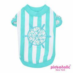 Helm Dog Shirt by Pinkaholic - Aqua