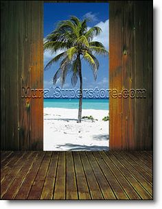 Browse our large selection of peel and stick Palm Tree Wall Murals for indoor or outdoor use in all sizes. Plus tips on mural installation. Large Wall Murals, Door Murals, Wall Treatments, Tree Wall, Wall Spaces, 1 Piece, Palm Trees, Illusions, Paths
