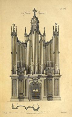 Design for a Gothic Organ, England