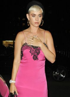 Katy Perry arrives at Annabel's Club in Mayfair