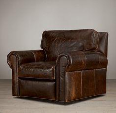 Lancaster Leather Swivel Chair--$2445 Restoration Hardware
