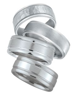 More hand-made wedding bands that are also made in America.