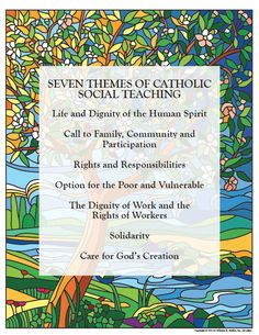 Catholic Social Teaching: Tweaking Our Global Conscience - includes download for Catholic social teaching poster #catholic