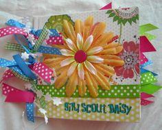 Adorable ---DaiSY GiRL SCouT--- Premade Scrapbook Paper Bag Album