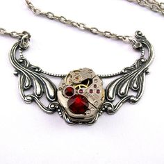 Steampunk Necklace  Gorgeous Vintage by LondonParticulars on Etsy, $55.00