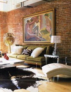 Love Vanessa Carlton's Manhattan loft featured in Sept. 2005 In Style Magazine. Interior design by Michael Buchanan of Michael Buchanan Style