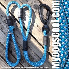 Sky Blue Ultimate Dog Leash with Optional 20 inch 2nd Handle and Adjustable Main Handle. Ideal for Dogs with High Prey Drive Allowing the Handler Maximum Control of the Leash and Dog. Handmade in USA for Large Dogs. . #dogleashes #bigdogs #dogwalker #mydogscool #madeinusa🇺🇸 #madeinusa #veteranowned Big Dogs, Large Dogs, Rope Dog Leash, Climbing Rope, Handle, Sky, Tools, Health, How To Make