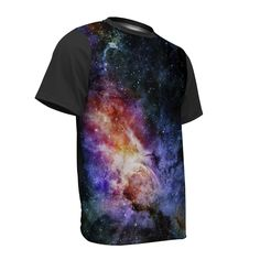 Men's Cosmic Space Short Sleeve Shirt