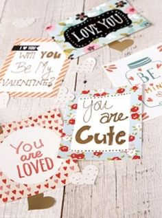 FREE Valentine's Day Printables -- Free Printable from @joannstores Share Love Note Card Printable