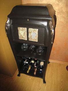 Repurposed 1920s Victrola - Now serves as a wine bar.