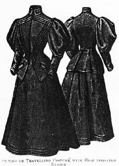 Outing or traveling costume, Harper's Bazaar- 1895.
