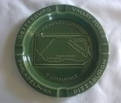 Vintage c.1960s Pennsylvania Turnpike Commemorative Ashtray by RennerLaDifference on Etsy