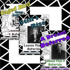 """Celebrate Black History Month with poetry lesson plans from the strong African American voices of Maya Angelou and Langston Hughes!  These three differentiated lesson plans center around the beautifully powerful poems, """"Still I Rise,"""" """"A Dream Deferred,"""" and """"Caged Bird."""" Each plan is meticulously explained using a format of warm-up, explanation, application, and synthesis with the aim to engage students from beginning to end."""