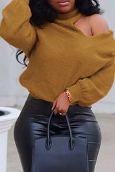 HTDBKDBK Fashion New Women Causal Loose Solid O-Neck Long Sleeve Back Hollow Out Top Blouse T-Shirt Tee