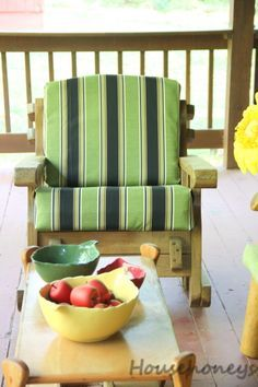 outdoor chair cushions...no sew cover