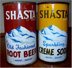 Shasta Old Fashioned Root Beer  Shasta Old Fashioned Creme Soda