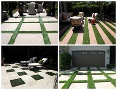 """""""There are so many ways to bring interest and drama to a yard without having to spend a fortune. I saw these great geometric grass designs and had to share them."""" - by our blogger Cathy For the entry?"""