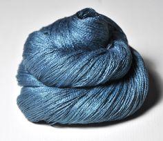 The sky is hazy OOAK  Silk Fine Lace Yarn by DyeForYarn on Etsy, €14.50