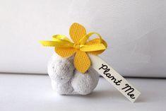 Bomboniere eco friendly seed bomb. Plant for wedding favor. #wedding