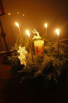 花キャンドル クリスマス