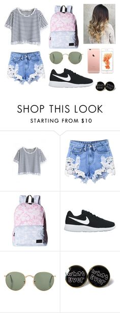 """Outfit 33"" by sarahcb2002 ❤ liked on Polyvore featuring WithChic, Vans and NIKE"