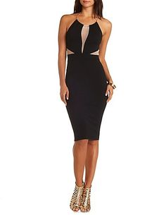 Chain Halter Cut-Out Bodycon Dress #CharlotteRusse #CRfashionista #bodycon #dress #halter