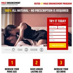 clean and appealing male enhancement product free trial landing page design at a very reasonable and affordable price from buy landing page design Landing Page Builder, Landing Page Design, Male Enhancement, Call To Action, First Names, Positivity, Cleaning, Marketing, Lp