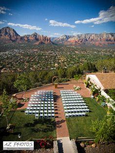 Aerial Photo from Quad Copter / Drone of Sedona Wedding Site AZ Photos 480-275-4526