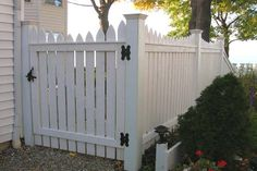 picket fence | ... Scalloped Spaced Picket Fence With Federal Caps By Elyria Fence