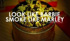 "funny smoking quotes ""look like barbie smoke like marley"" Stoner Quotes, Weed Quotes, Dope Quotes, Weed Memes, Girl Smoking, Smoking Weed, Barbie, Puff And Pass, Stoner Girl"