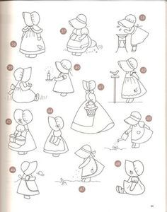 Sunbonnet sue - Patch - txatxa ma - Álbuns da web do Picasa Hand Embroidery Patterns, Applique Patterns, Applique Quilts, Embroidery Applique, Embroidery Stitches, Quilt Patterns, Sunbonnet Sue, Quilting Projects, Sewing Projects