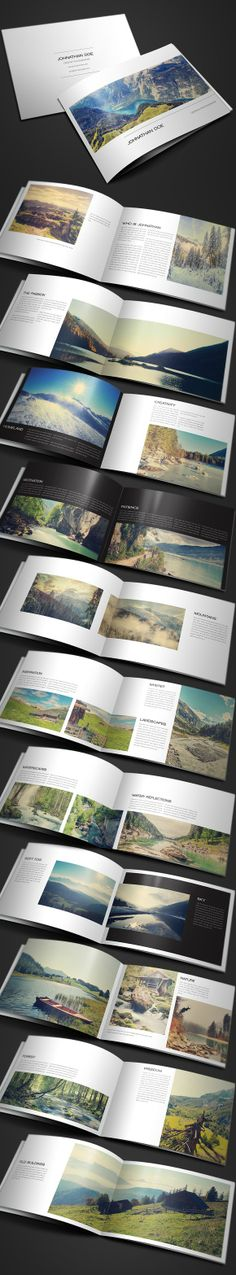 Buy Modern Photography Portfolio, Wedding Album by on GraphicRiver. Modern Photography Portfolio, Wedding Album is a 24 paged + US Letter brochure / portfolio made for photographers. Design Brochure, Booklet Design, Graphic Design Layouts, Book Design Layout, Print Layout, Album Design, Photo Book Design, Booklet Layout, Frame Layout