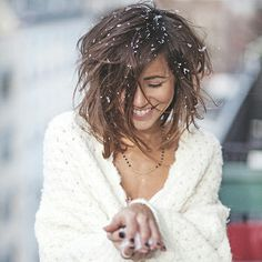 """Love her hair! Everywhere I see her I'm thinking""""damn I want that style"""" Long Hair Cuts, Long Hair Styles, Greek Jewelry, Bohemian Hairstyles, Minimal Jewelry, Black Spinel, Love Her Style, Girls In Love, Necklace Lengths"""