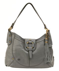 9c1c3a2a3f7 Gray Kennewick Leather Hobo Satchel