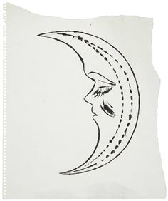 ANDY WARHOL (1928-1987) Half Moon Sleeping ink and graphite on paper 12¾ x 10¼ in. (32.4 x 26 cm.) Drawn circa 1954.🌑More Pins Like This One At FOSTERGINGER @ PINTEREST 🌑No Pin Limits🌑でこのようなピンがいっぱいになる🌑ピンの限界🌑