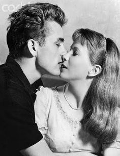 James Dean. love the almost kiss