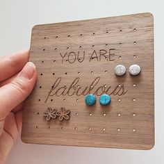This organizer is suitable for 32 pairs of stud earrings. It is is made of American walnut and impregnated with vegetable oil. It has elegant desing and is pleasant to touch. It can be used to store stud or drop earrings. Each of our earrings holder is unique with natural wood texture. Color