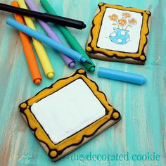 canvas cookies 2 by thedecoratedcookie, via Flickr