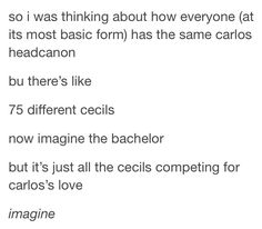 I've heard of Cecil as a dog, what if Carlos was a dog though? Think about it...