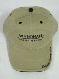 b414a59deaf Wyndham Championship Golf Hat Khaki Sedgefield ADG -- Click on the image  for additional details. Note It is Affiliate Link to Amazon.