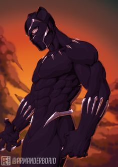 Black Panther Movie 2018, Black Panther Comic, Marvel Art, Marvel Heroes, Marvel Avengers, Jack Kirby, Black Panther Chadwick Boseman, Comic Style Art, Mundo Marvel