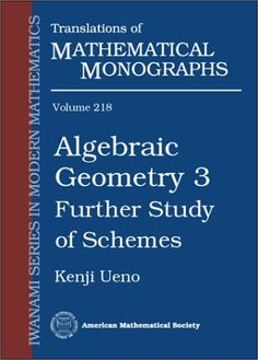 Algebraic geometry. 3, Further study of schemes / Kenji Ueno ; translated from the japanese by Goro Kato. (2003). Máis información: http://www.ams.org/bookstore-getitem/item=mmono-218