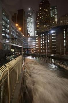 A deluge of water floods the Battery Tunnel in Manhattan as Hurricane Sandy made its approach in New York, October 29, 2012.REUTERS-Andrew Kelly