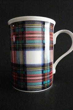 Crown Trent Staffordshire Green Red Tartan Mug England | eBay